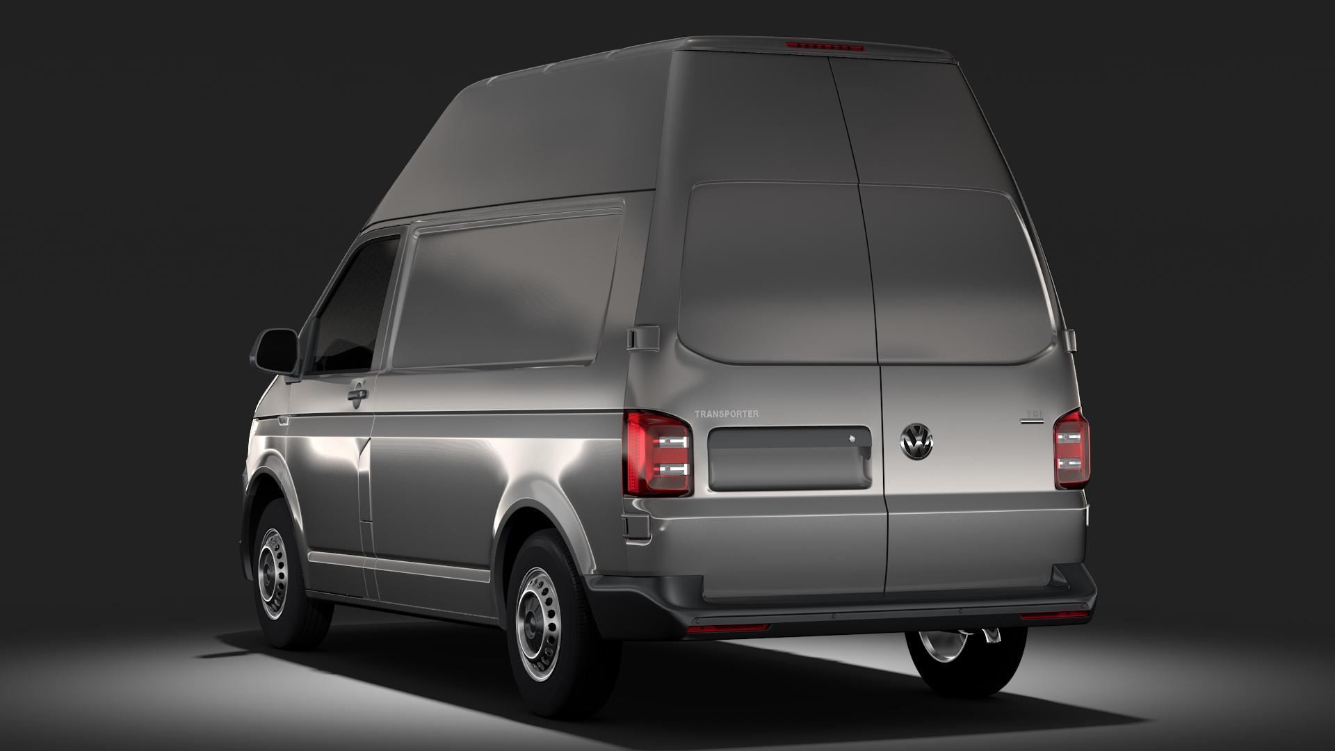 volkswagen transporter van l1h3 t6 2017 3d model. Black Bedroom Furniture Sets. Home Design Ideas