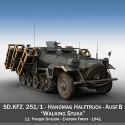 SD.KFZ 251/1 Ausf.B - Walking Stuka - 11PD 3d model  3ds fbx c4d lwo lws lw obj
