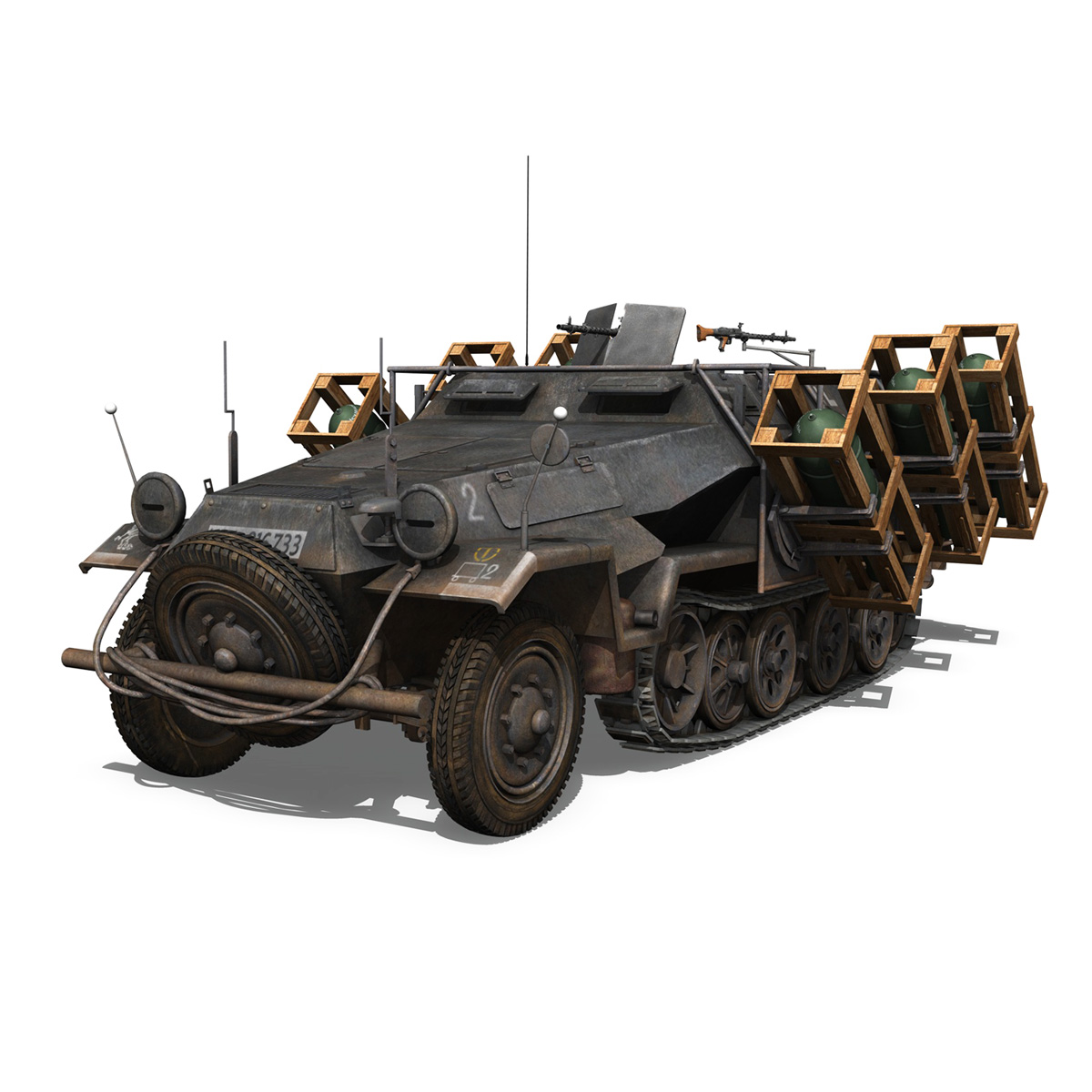 sd.kfz 251/1 ausf.b – walking stuka – 11pd 3d model 3ds fbx c4d lwo obj 275212