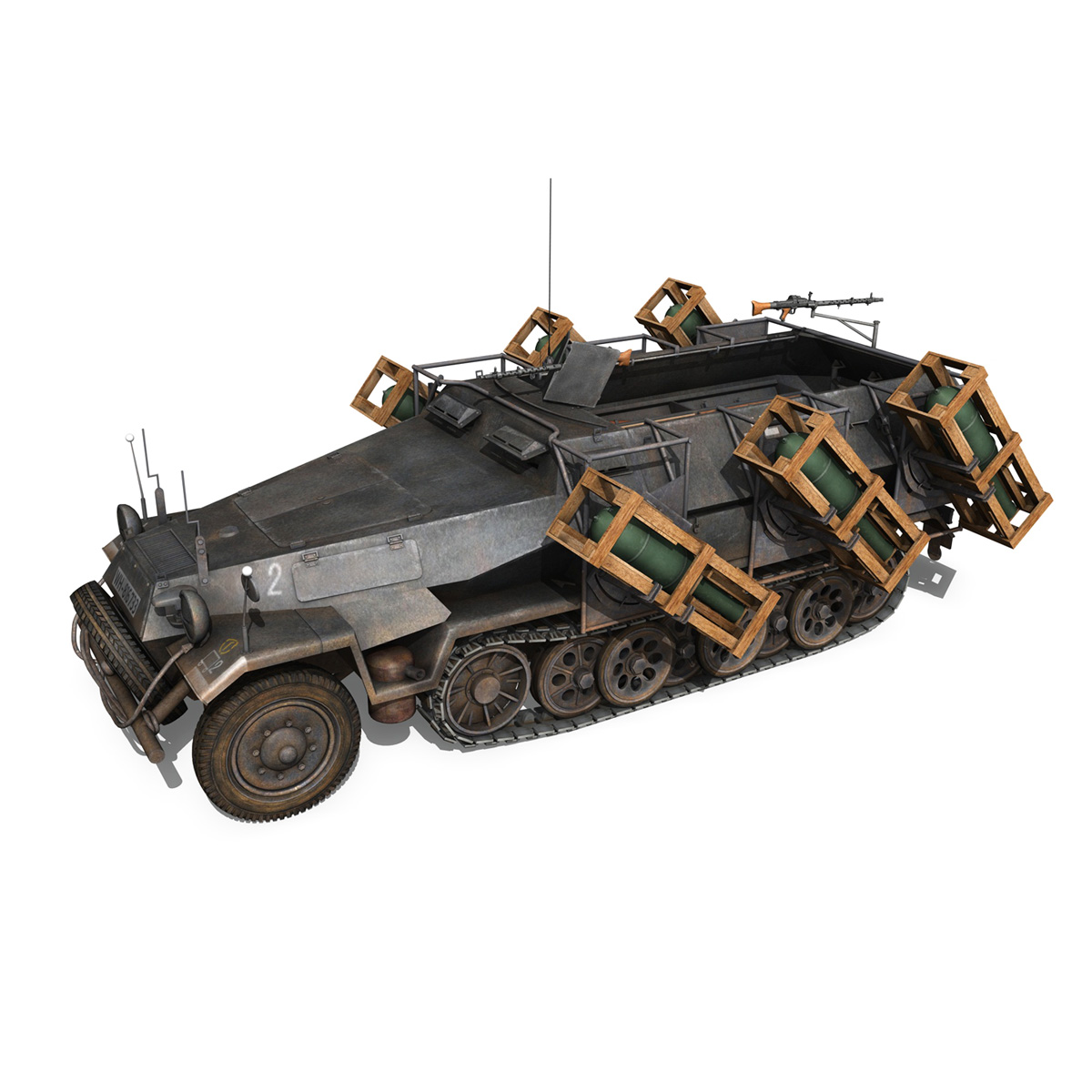 sd.kfz 251/1 ausf.b – walking stuka – 11pd 3d model 3ds fbx c4d lwo obj 275213