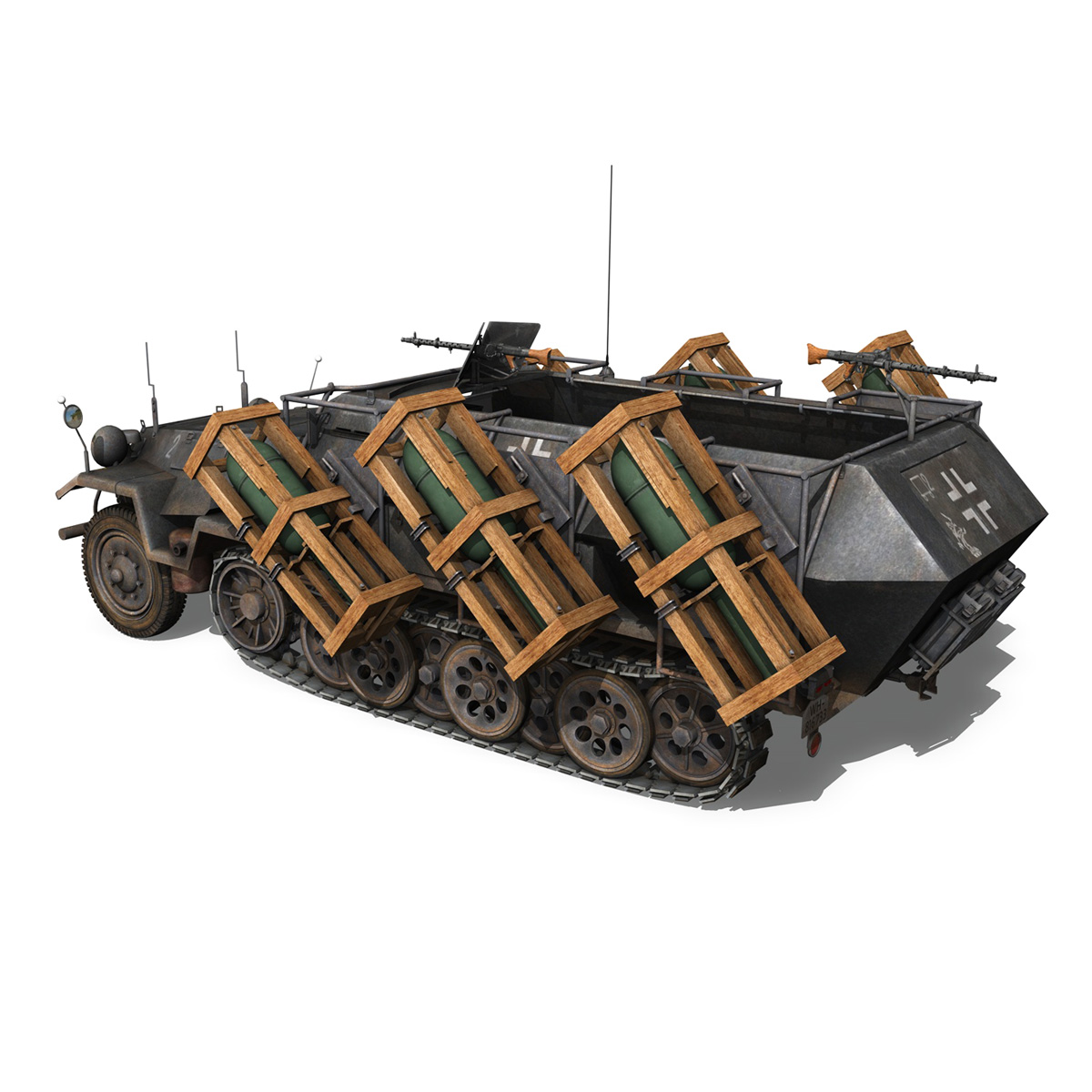 sd.kfz 251/1 ausf.b – walking stuka – 11pd 3d model 3ds fbx c4d lwo obj 275214