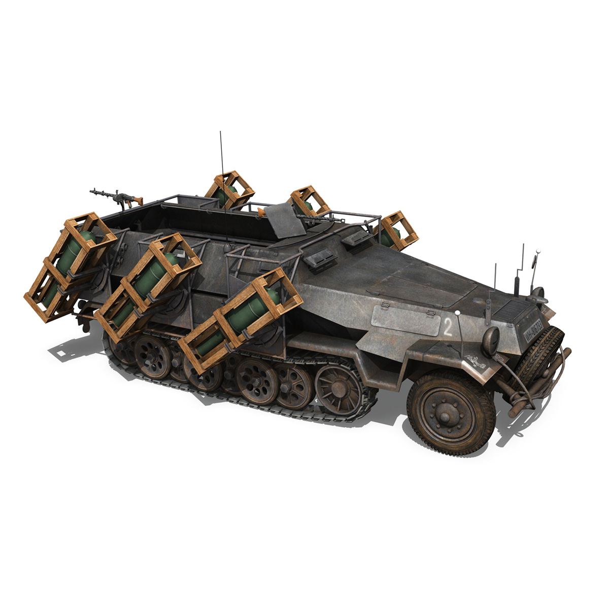 sd.kfz 251/1 ausf.b – walking stuka – 11pd 3d model 3ds fbx c4d lwo obj 275219