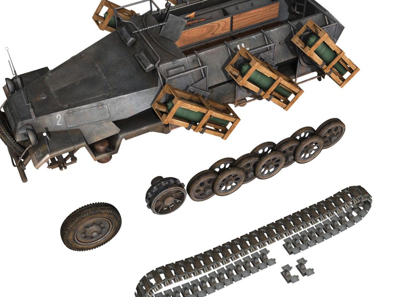SD.KFZ 251/1 Ausf.B - Walking Stuka - 11PD 3d model high poly virtual reality 3ds fbx c4d lwo lws lw obj
