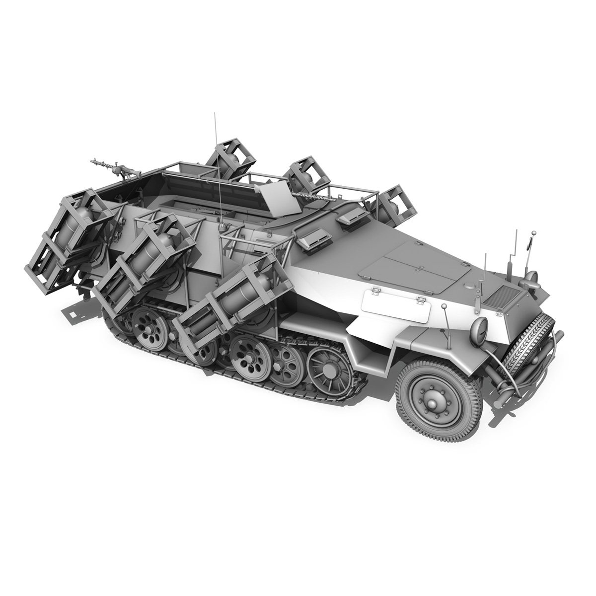 sd.kfz 251/1 ausf.b – walking stuka – 11pd 3d model 3ds fbx c4d lwo obj 275223