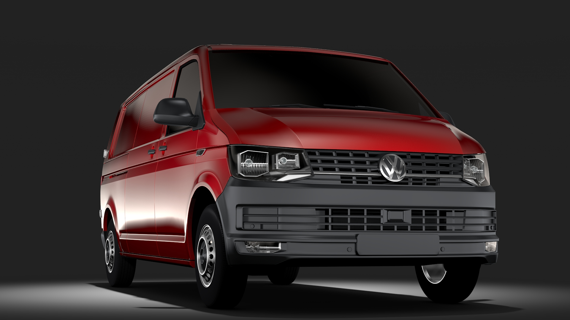 volkswagen transporter van l2h1 t6 2017 3d model max fbx c4d lwo ma mb hrc xsi obj 275230