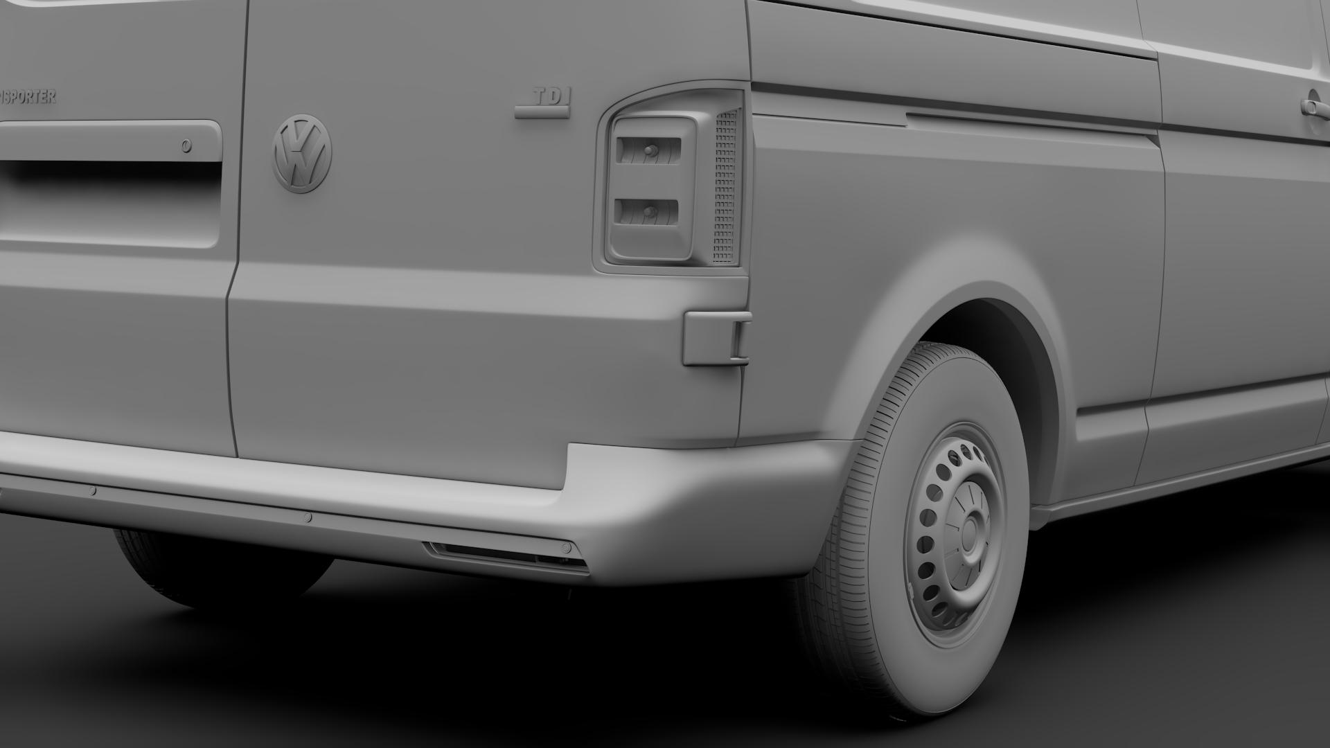 volkswagen nəqliyyat vasitəsi van l2h1 t6 2017 3d model max fbx c4d lwo ma mb hrc xsi obj 275241