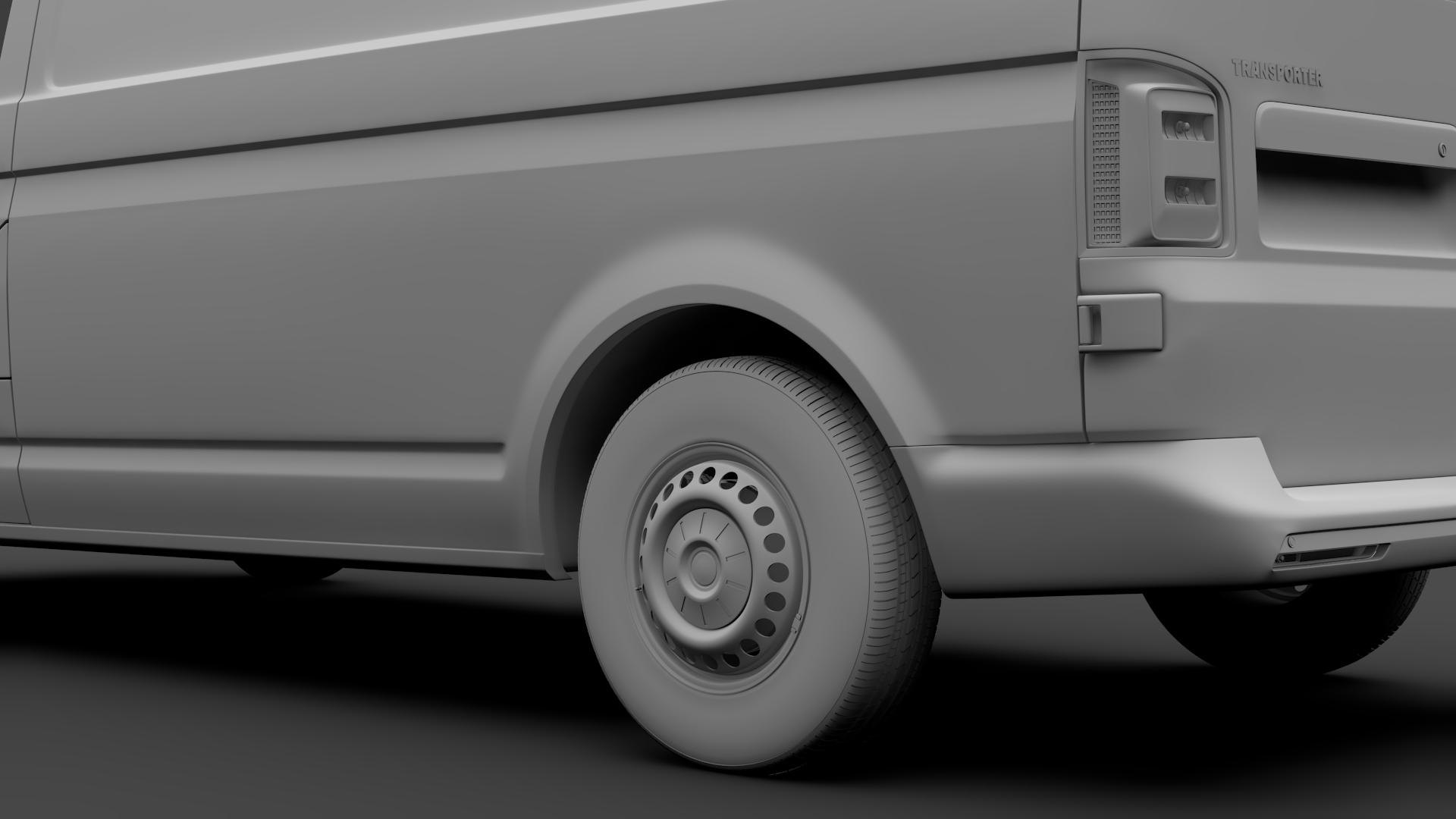 volkswagen nəqliyyat vasitəsi van l2h1 t6 2017 3d model max fbx c4d lwo ma mb hrc xsi obj 275242