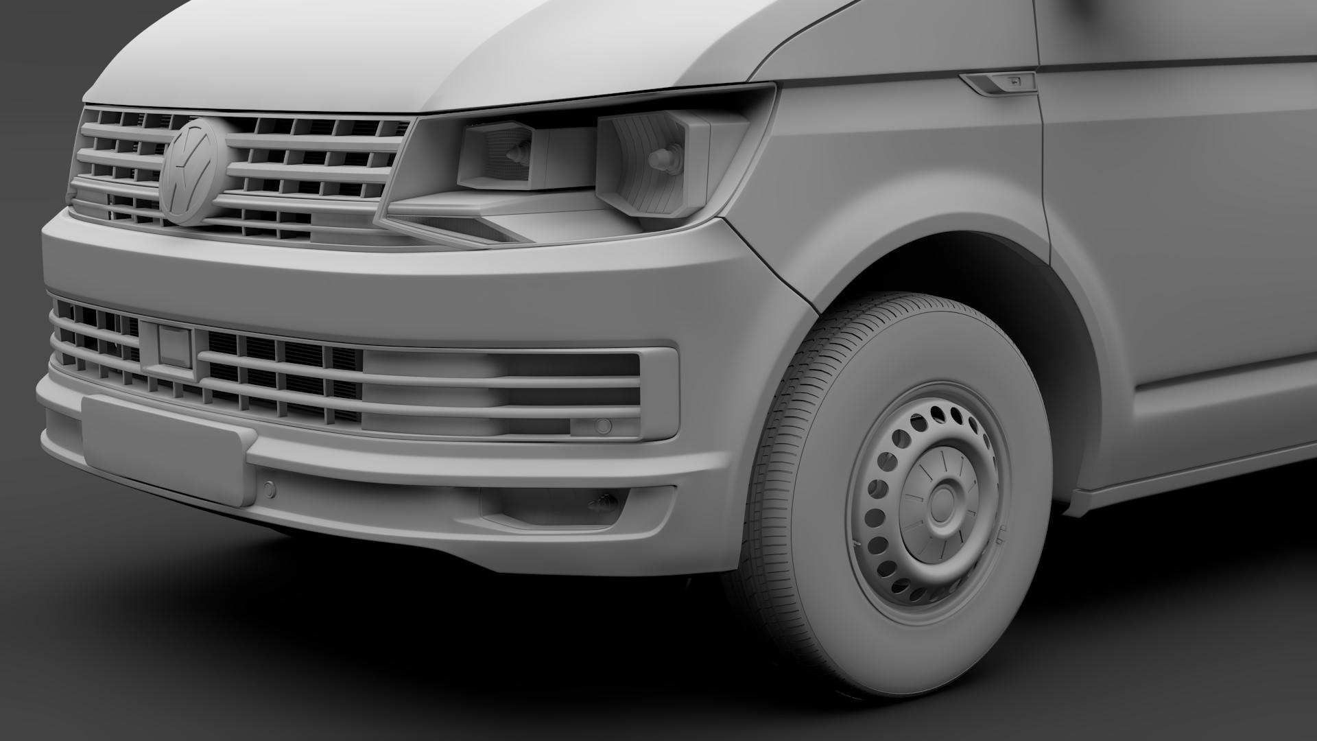 volkswagen nəqliyyat vasitəsi van l2h1 t6 2017 3d model max fbx c4d lwo ma mb hrc xsi obj 275245