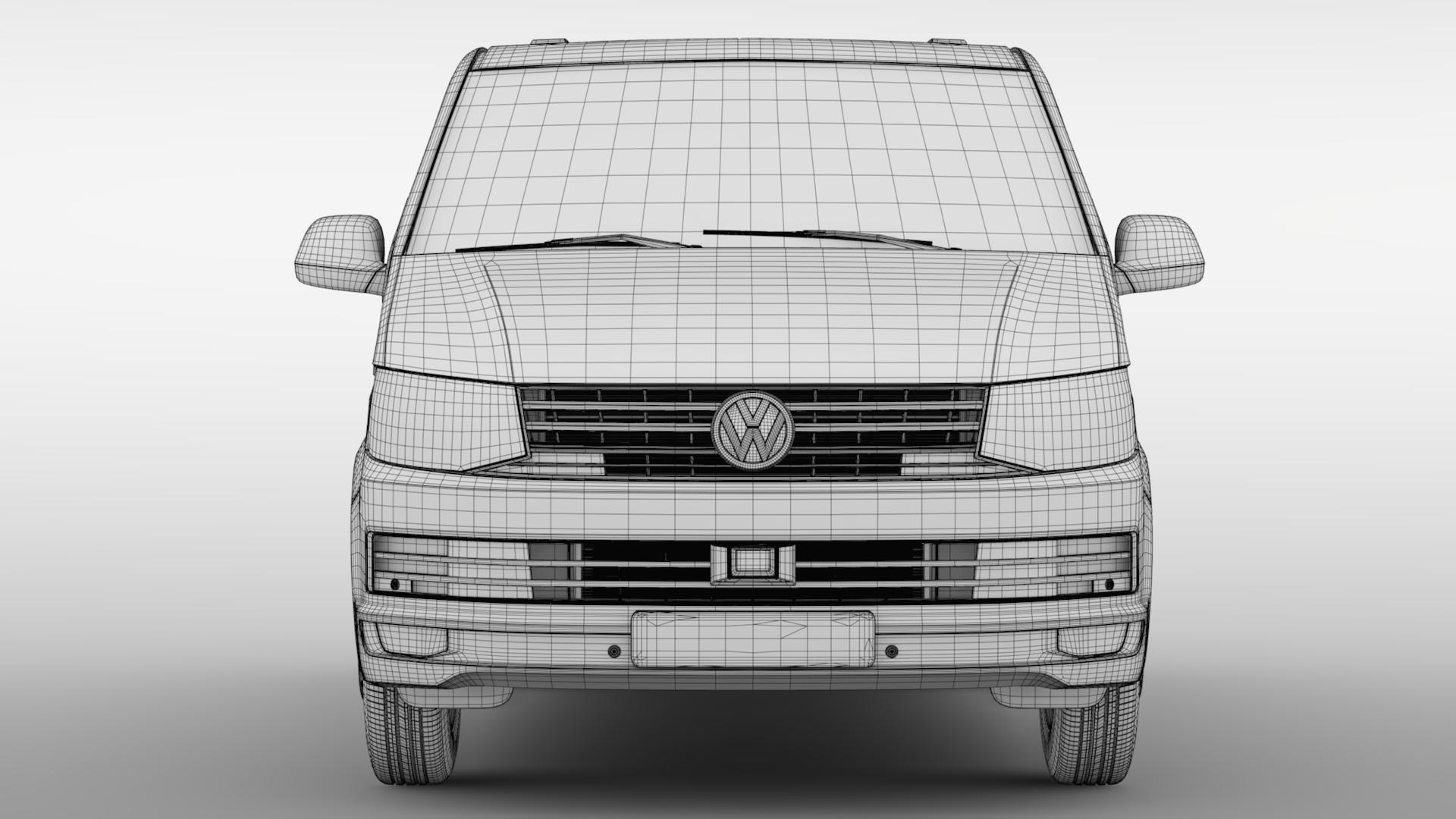 volkswagen nəqliyyat vasitəsi van l2h1 t6 2017 3d model max fbx c4d lwo ma mb hrc xsi obj 275246