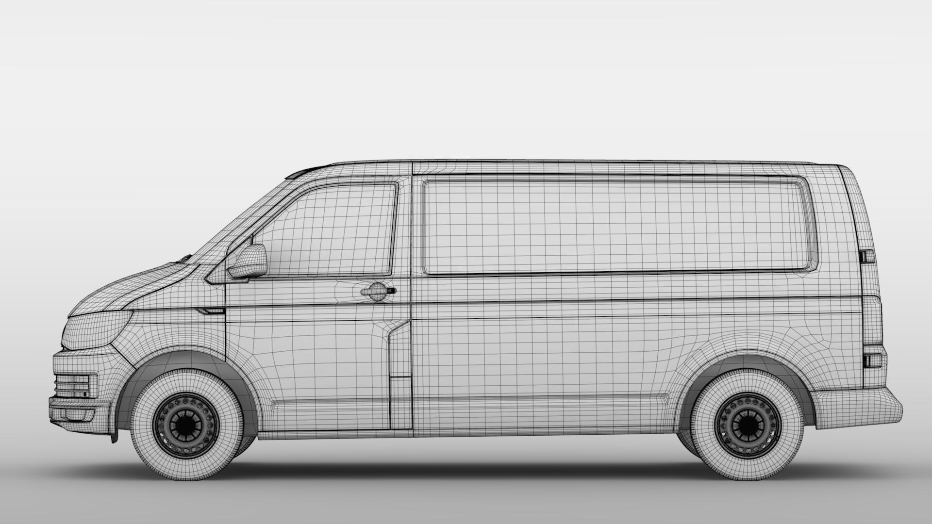 volkswagen nəqliyyat vasitəsi van l2h1 t6 2017 3d model max fbx c4d lwo ma mb hrc xsi obj 275248