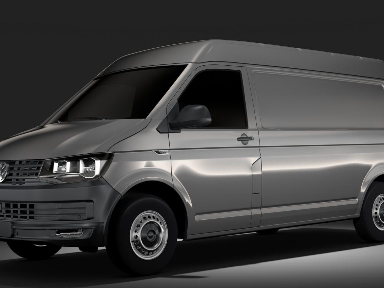 Volkswagen Transporter Van L2H2 T6 2017 3d model 0