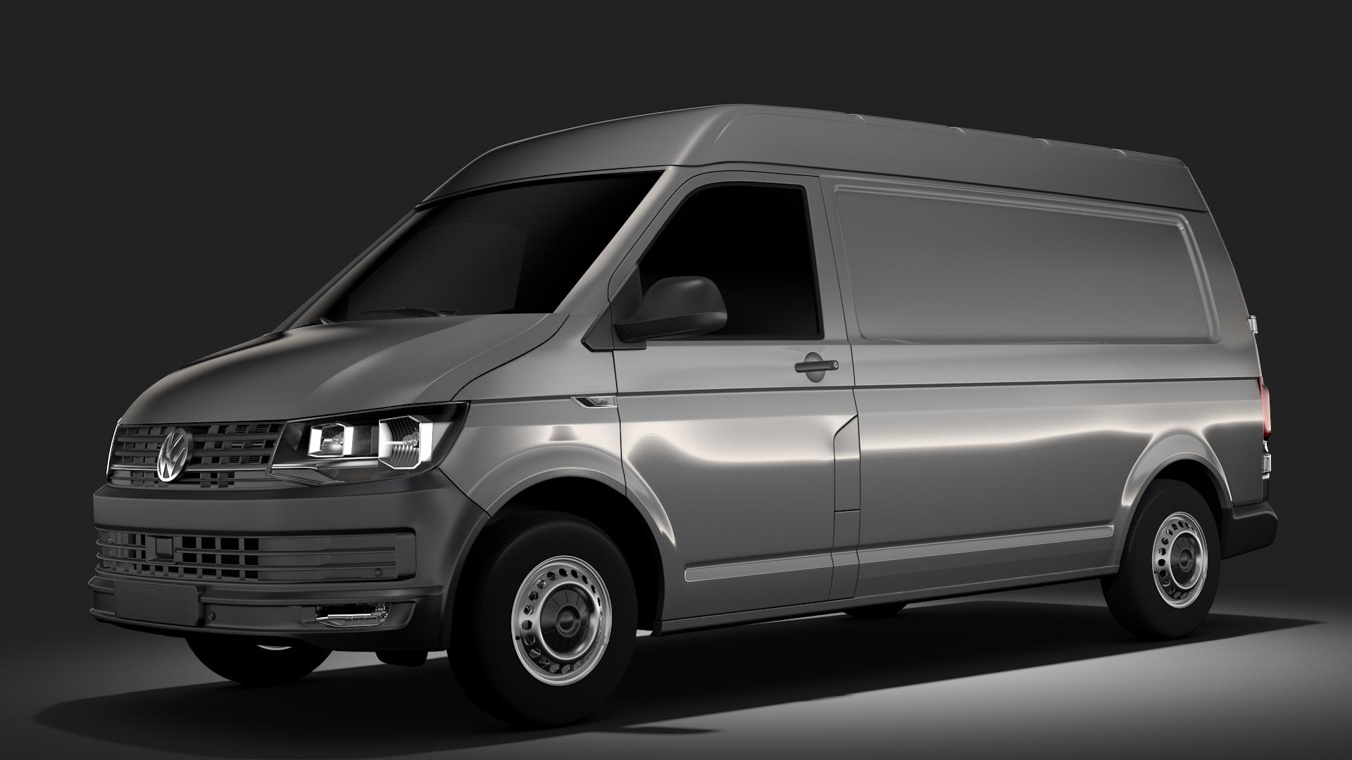 volkswagen nəqliyyat vasitəsi van l2h2 t6 2017 3d model max fbx c4d lwo ma mb hrc xsi obj 275260