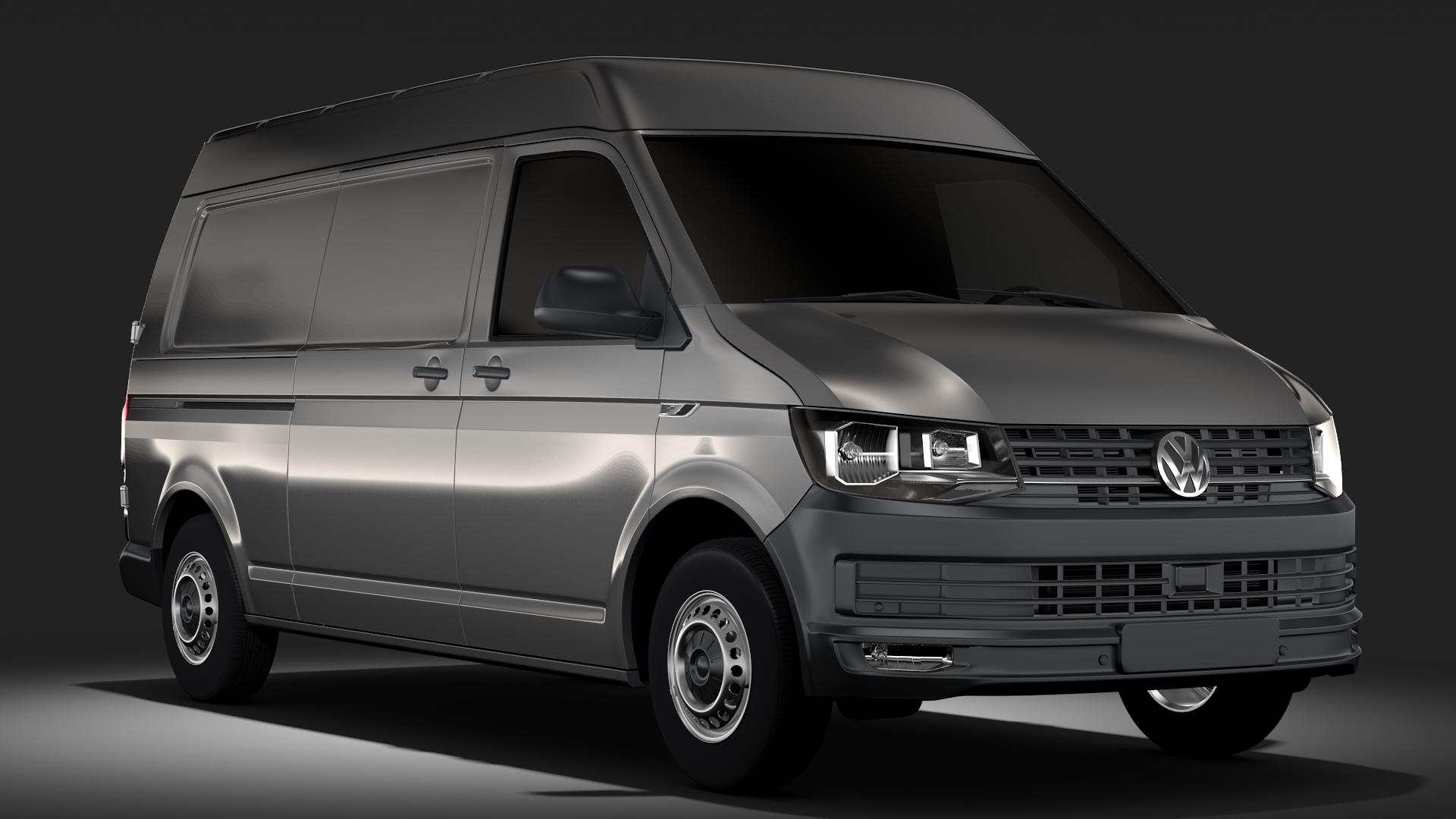 volkswagen transporter van l2h2 t6 2017 3d model flatpyramid. Black Bedroom Furniture Sets. Home Design Ideas