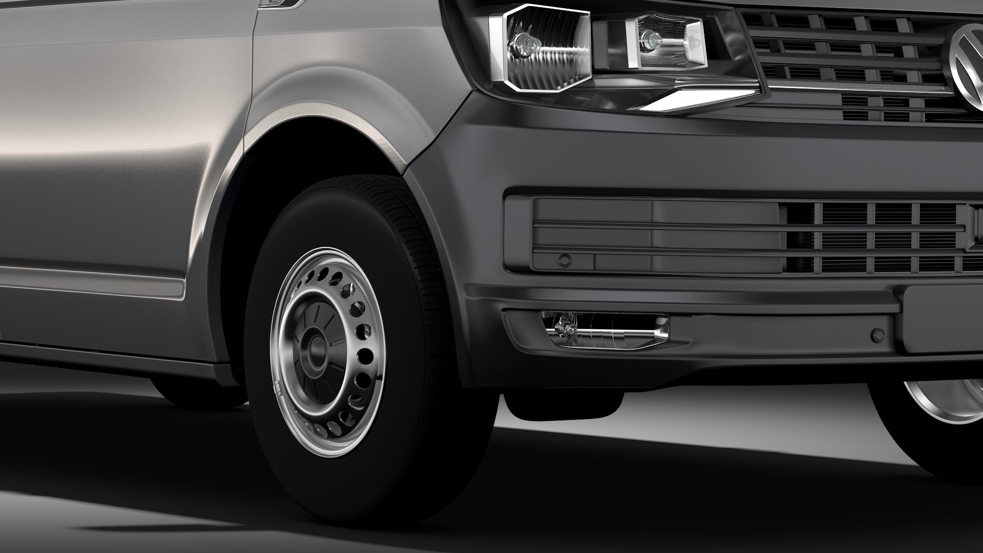 volkswagen nəqliyyat vasitəsi van l2h2 t6 2017 3d model max fbx c4d lwo ma mb hrc xsi obj 275262