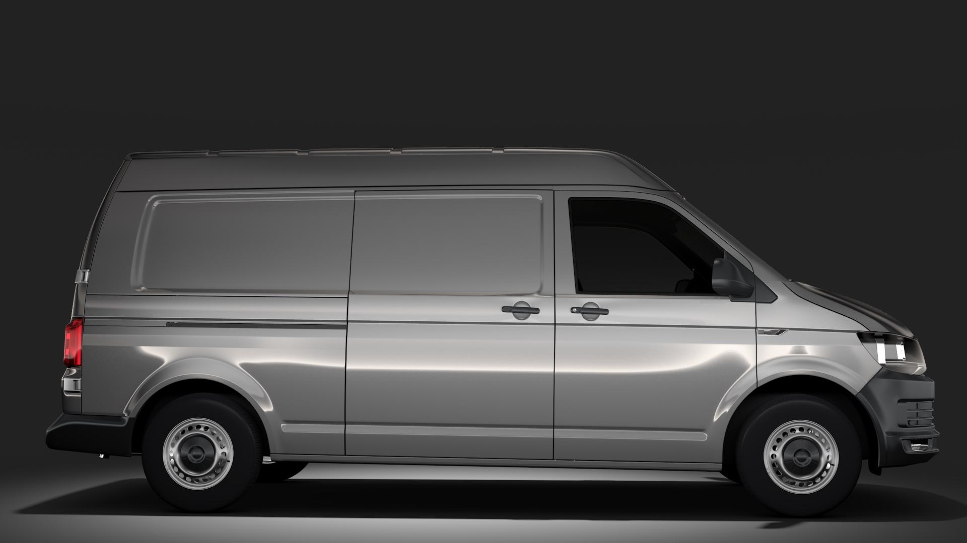 volkswagen nəqliyyat vasitəsi van l2h2 t6 2017 3d model max fbx c4d lwo ma mb hrc xsi obj 275267