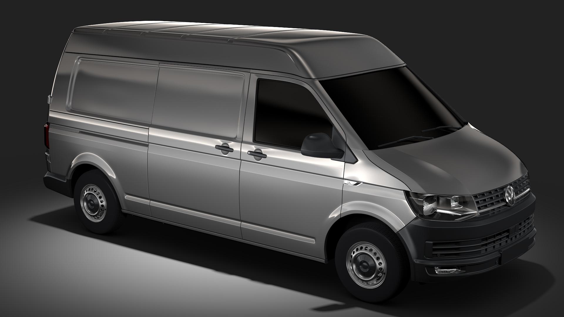 volkswagen nəqliyyat vasitəsi van l2h2 t6 2017 3d model max fbx c4d lwo ma mb hrc xsi obj 275269
