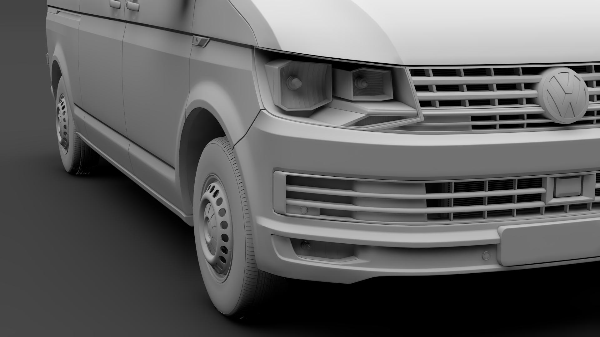 volkswagen nəqliyyat vasitəsi van l2h2 t6 2017 3d model max fbx c4d lwo ma mb hrc xsi obj 275270