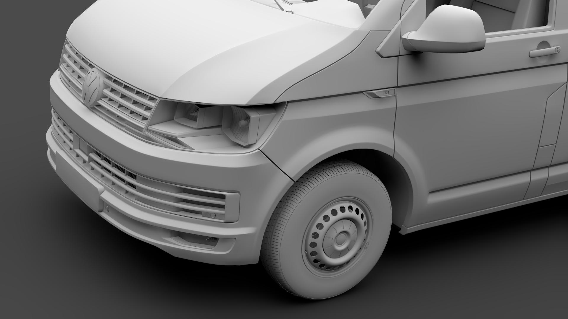 volkswagen nəqliyyat vasitəsi van l2h2 t6 2017 3d model max fbx c4d lwo ma mb hrc xsi obj 275271