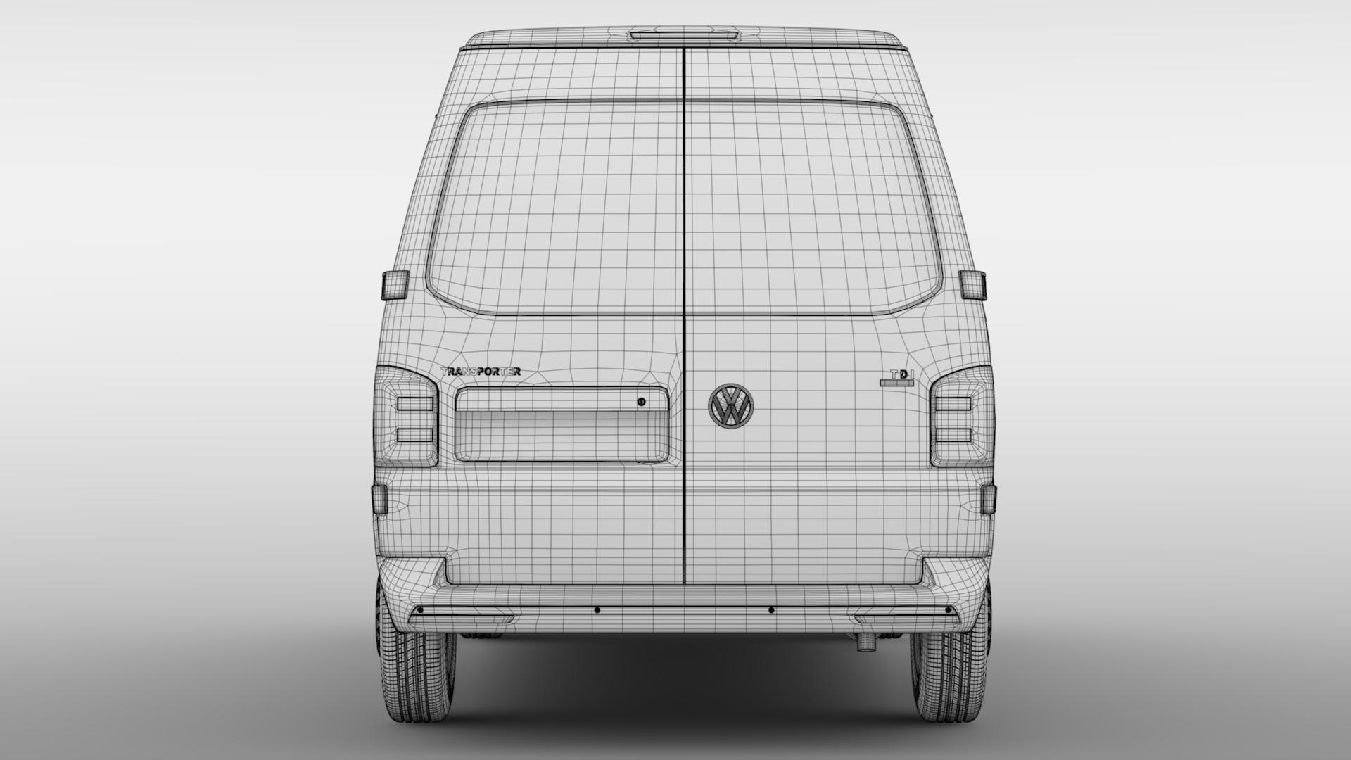 volkswagen nəqliyyat vasitəsi van l2h2 t6 2017 3d model max fbx c4d lwo ma mb hrc xsi obj 275275