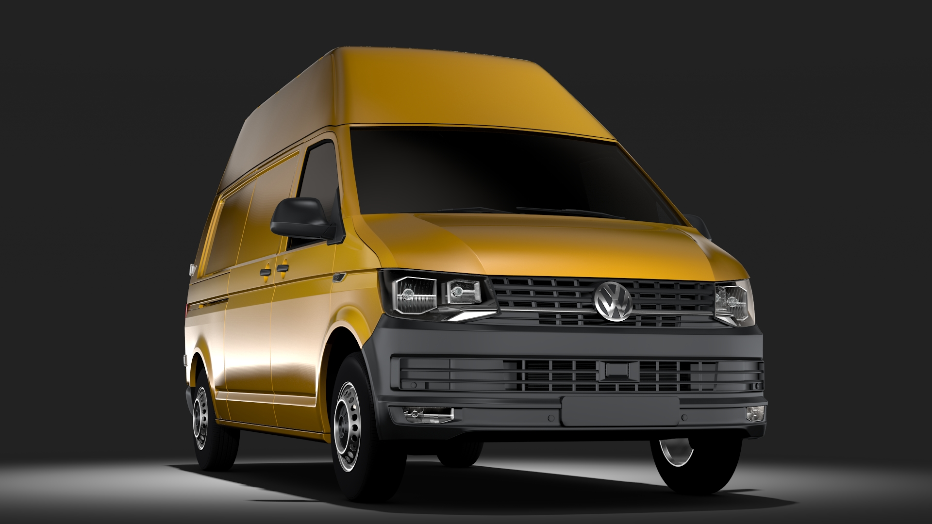 volkswagen transporter l2h3 t6 2017 3d model max fbx c4d