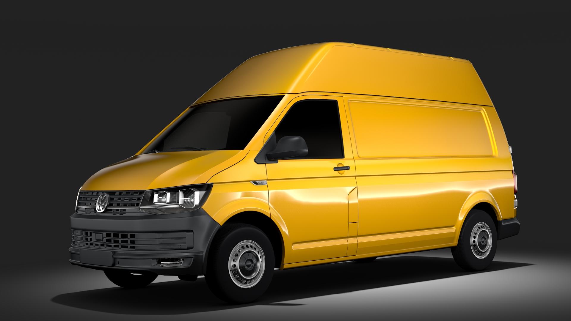 volkswagen transporter van l2h3 t6 2017 3d model max fbx c4d lwo ma mb hrc xsi obj 275289