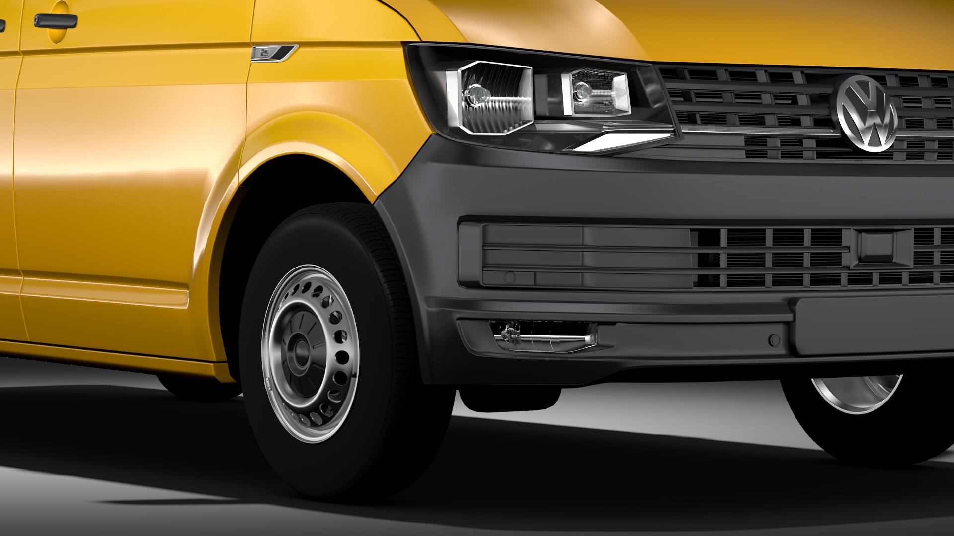 volkswagen transporter van l2h3 t6 2017 3d model max fbx c4d lwo ma mb hrc xsi obj 275291