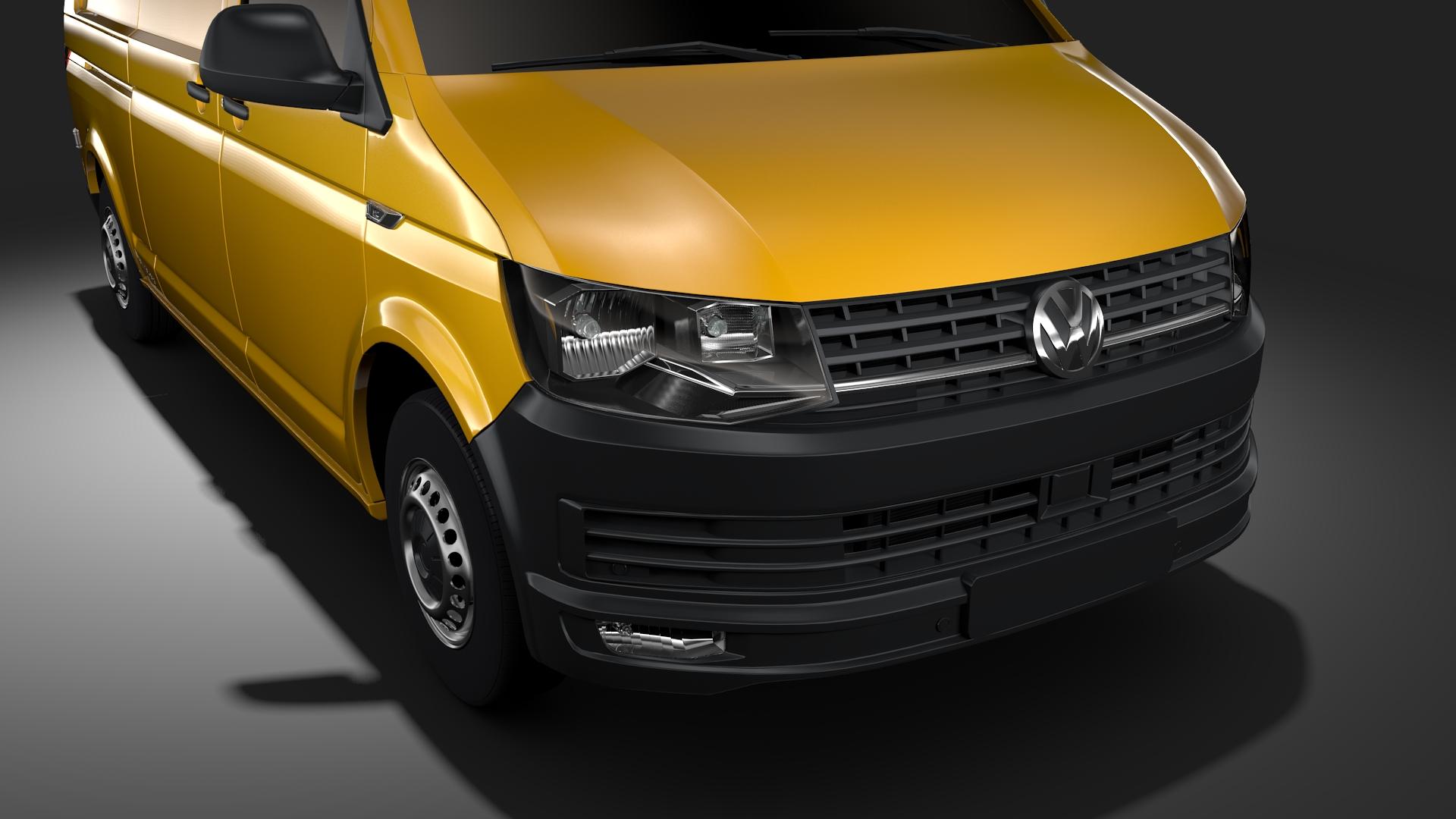 volkswagen transporter van l2h3 t6 2017 3d model max fbx c4d lwo ma mb hrc xsi obj 275292