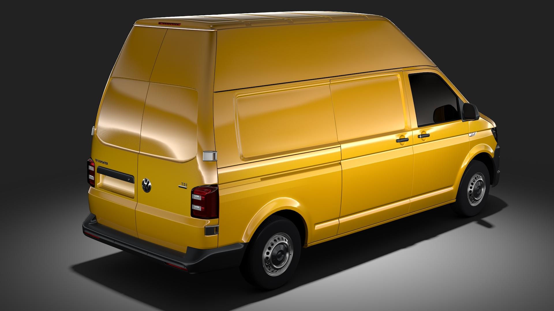 volkswagen transporter van l2h3 t6 2017 3d model max fbx c4d lwo ma mb hrc xsi obj 275295