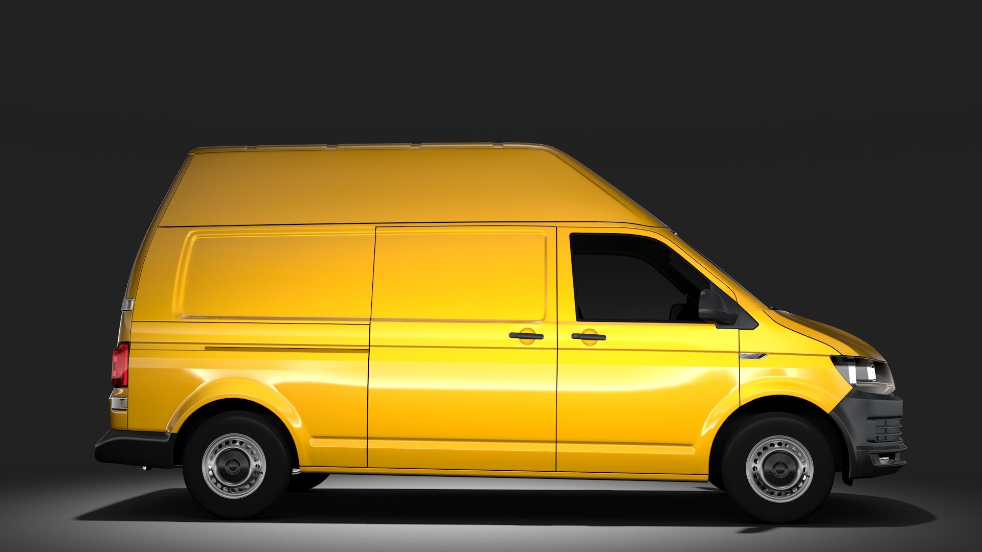 volkswagen transporter van l2h3 t6 2017 3d model max fbx c4d lwo ma mb hrc xsi obj 275296