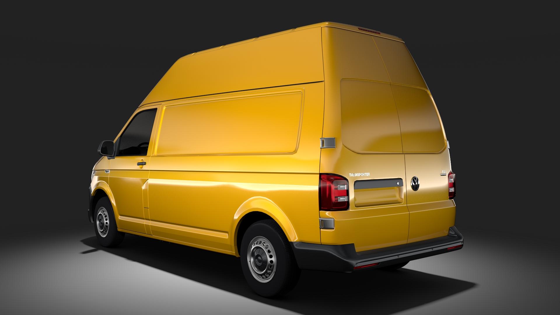 volkswagen transporter van l2h3 t6 2017 3d model max fbx c4d lwo ma mb hrc xsi obj 275297