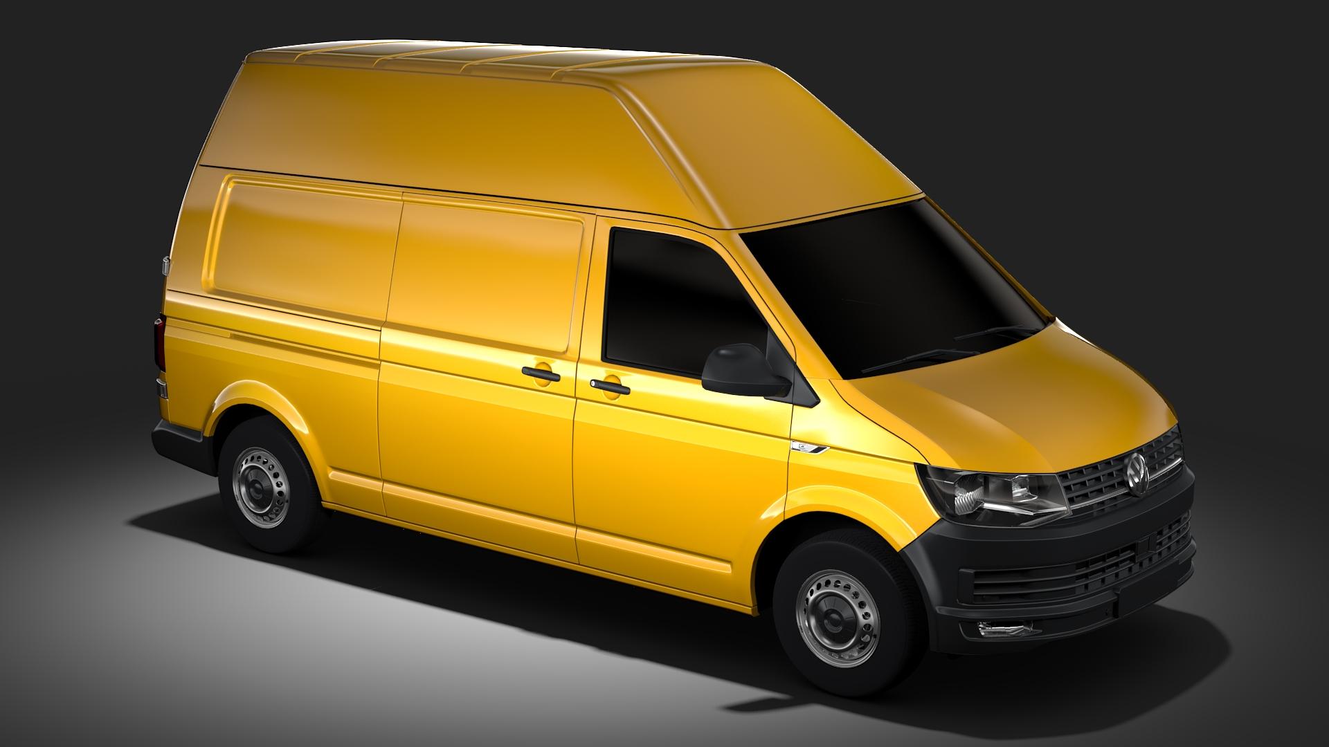 volkswagen transporter van l2h3 t6 2017 3d model max fbx c4d lwo ma mb hrc xsi obj 275298