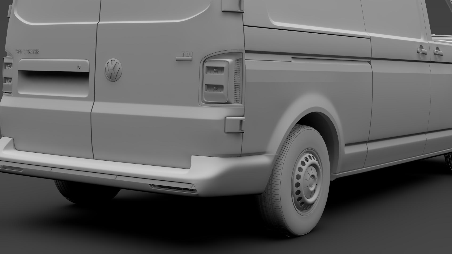 volkswagen transporter van l2h3 t6 2017 3d model max fbx c4d lwo ma mb hrc xsi obj 275299