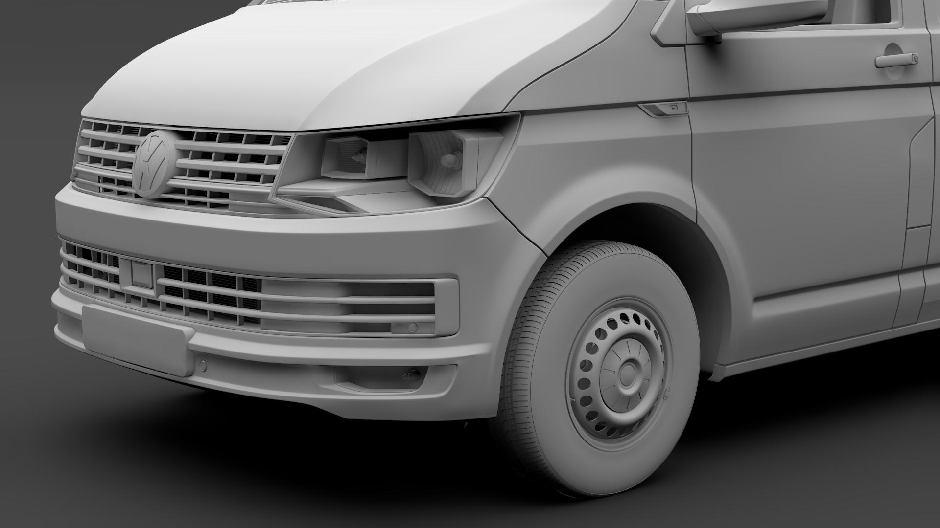 volkswagen transporter van l2h3 t6 2017 3d model max fbx c4d lwo ma mb hrc xsi obj 275300