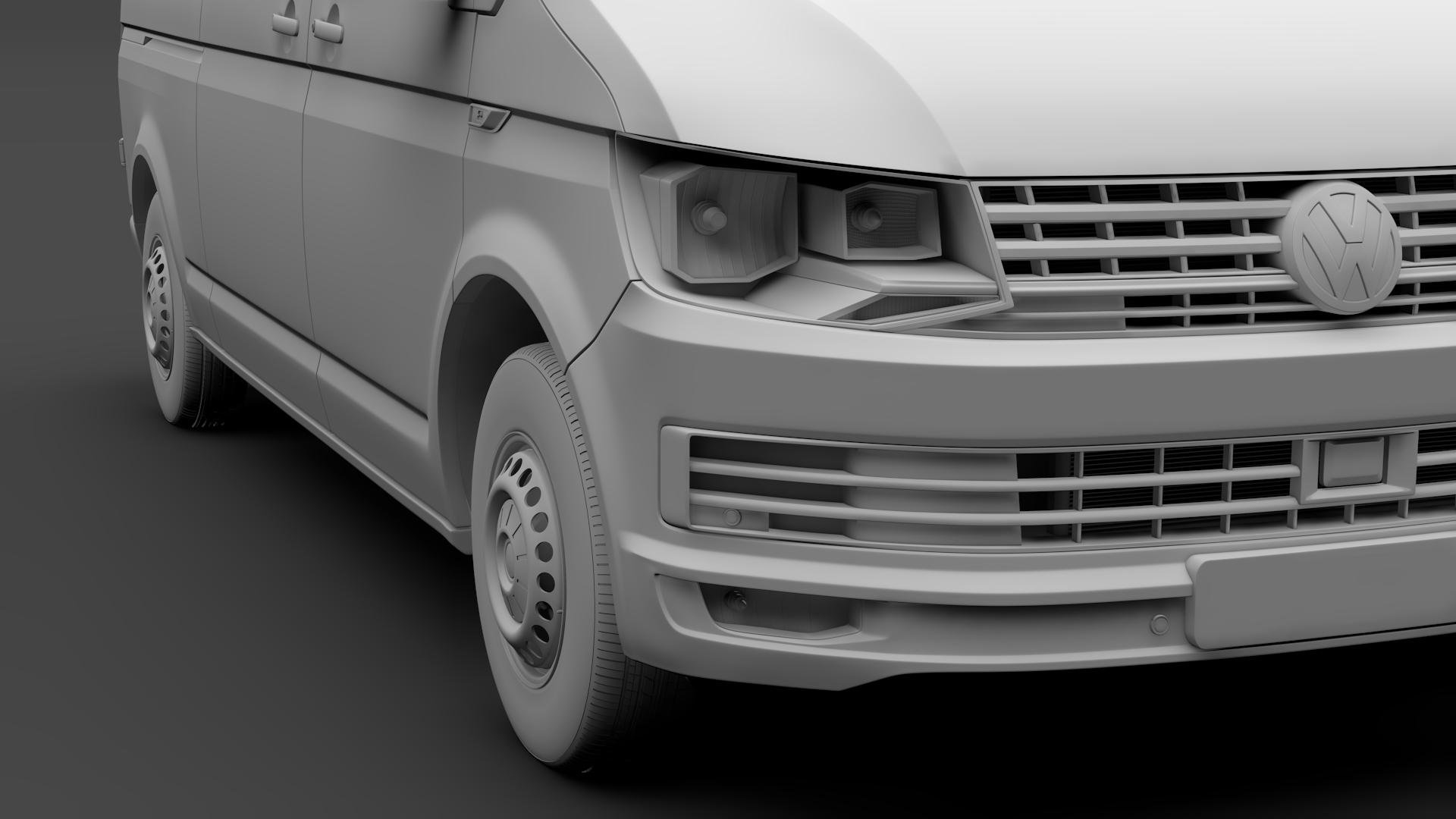 volkswagen transporter van l2h3 t6 2017 3d model max fbx c4d lwo ma mb hrc xsi obj 275301