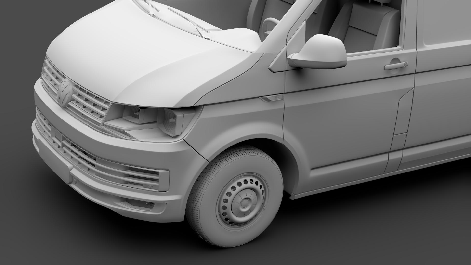 volkswagen transporter van l2h3 t6 2017 3d model max fbx c4d lwo ma mb hrc xsi obj 275302