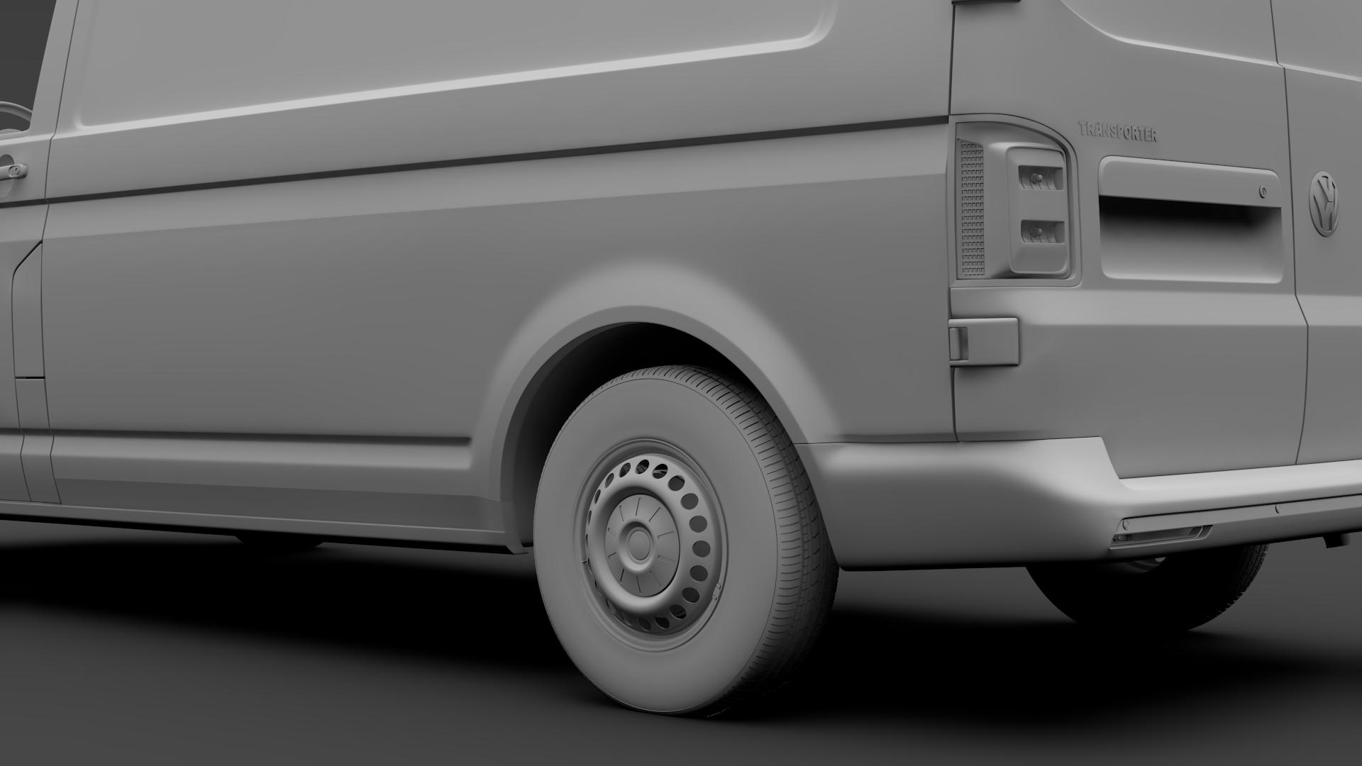 volkswagen transporter van l2h3 t6 2017 3d model max fbx c4d lwo ma mb hrc xsi obj 275303