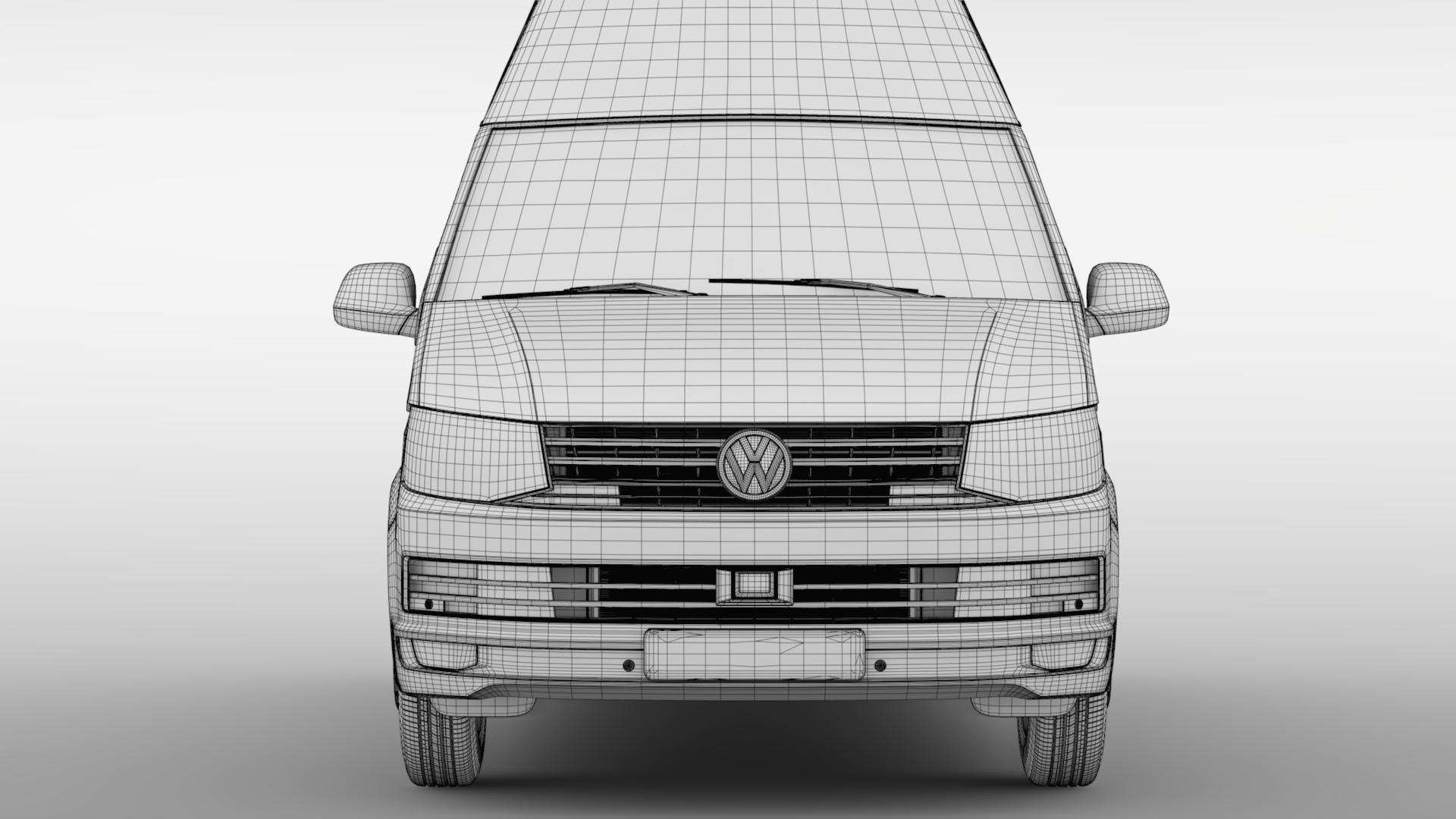 volkswagen transporter van l2h3 t6 2017 3d model max fbx c4d lwo ma mb hrc xsi obj 275305
