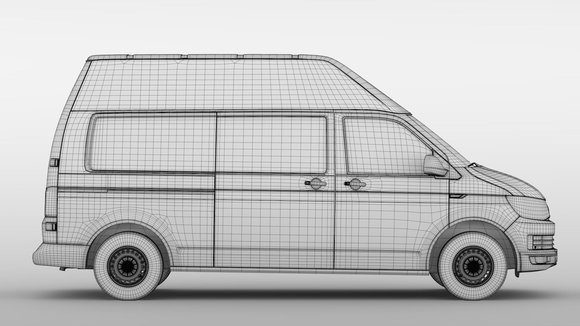 volkswagen transporter van l2h3 t6 2017 3d model max fbx c4d lwo ma mb hrc xsi obj 275306