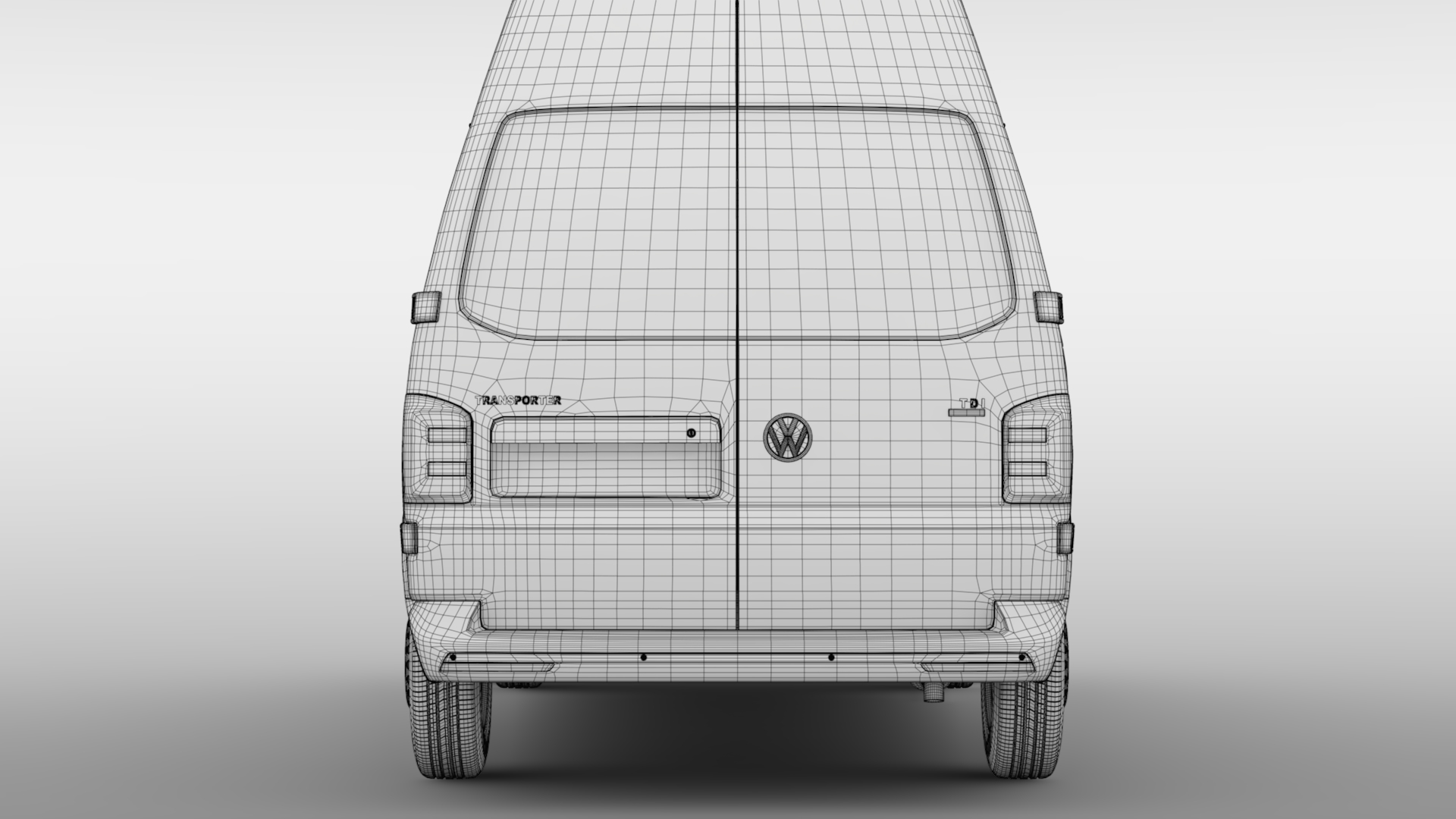 volkswagen transporter van l2h3 t6 2017 3d model max fbx c4d lwo ma mb hrc xsi obj 275307