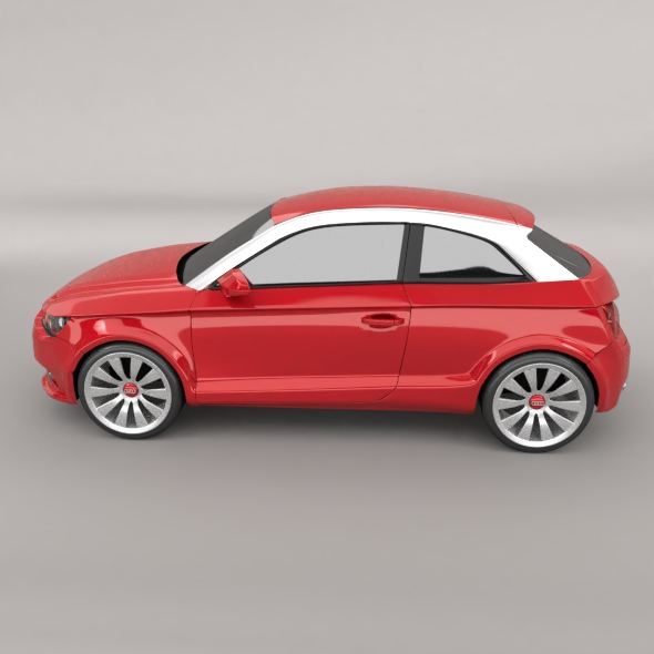 audi a1 2011 city car restyled 3d model 3ds fbx blend dae lwo obj 275384