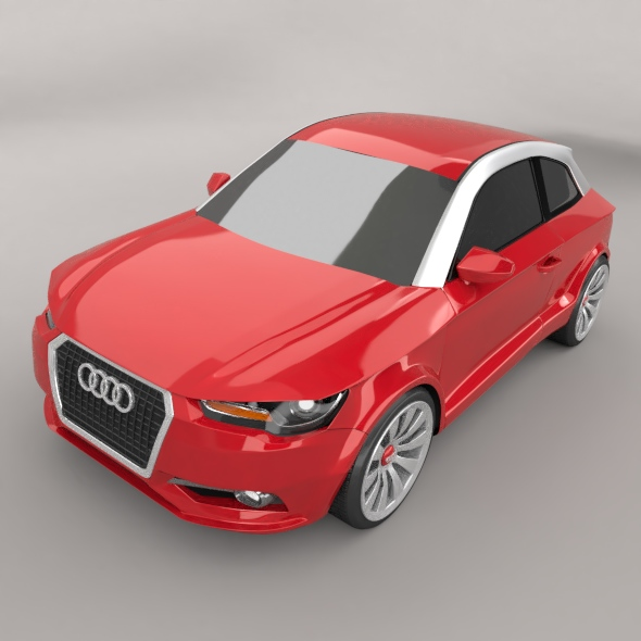 audi a1 2011 city car restyled 3d model 3ds fbx blend dae lwo obj 275385