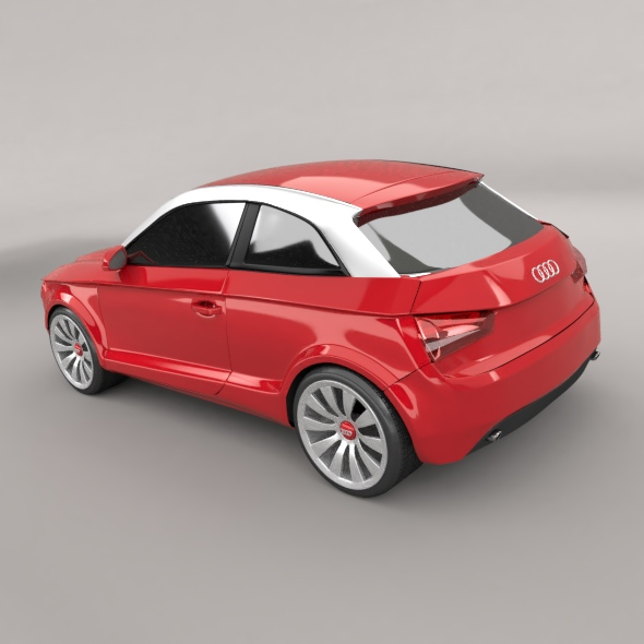 audi a1 2011 city car restyled 3d model 3ds fbx blend dae lwo obj 275386