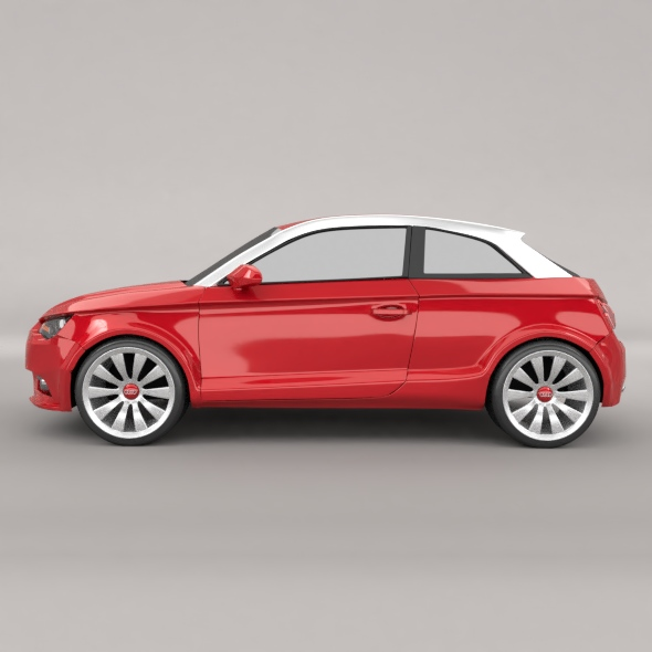 audi a1 2011 city car restyled 3d model 3ds fbx blend dae lwo obj 275387