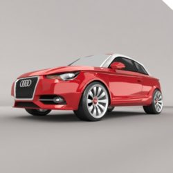 Audi A1 2011 city car restyled 3d model 3ds fbx blend dae lwo lws lw obj