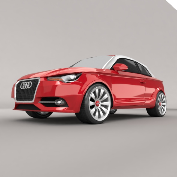 audi a1 2011 city car restyled 3d model 3ds fbx blend dae lwo obj 275388