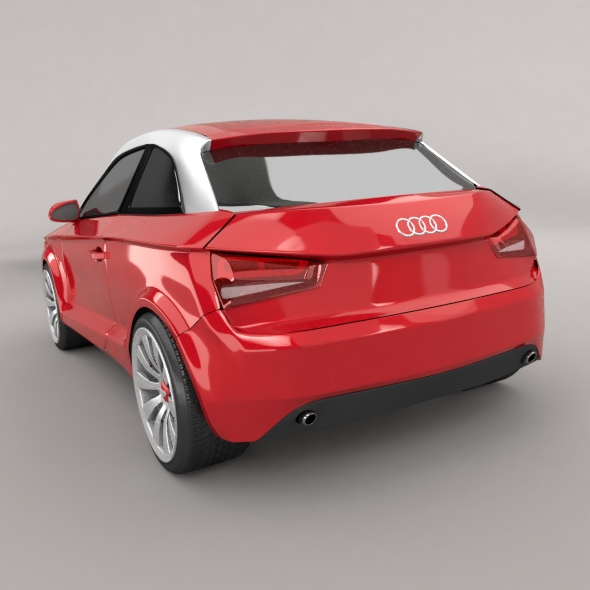 audi a1 2011 city car restyled 3d model 3ds fbx blend dae lwo obj 275389