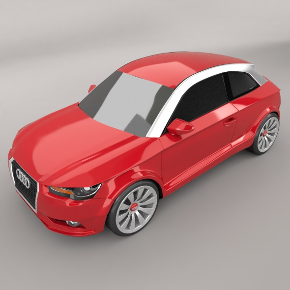 audi a1 2011 city car restyled 3d model 3ds fbx blend dae lwo obj 275390