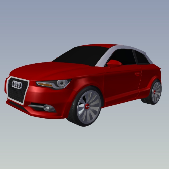 audi a1 2011 city car restyled 3d model 3ds fbx blend dae lwo obj 275391