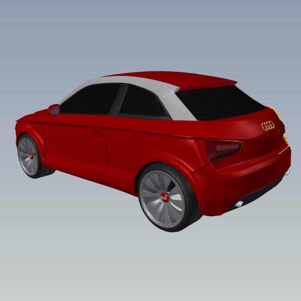 audi a1 2011 city car restyled 3d model 3ds fbx blend dae lwo obj 275392