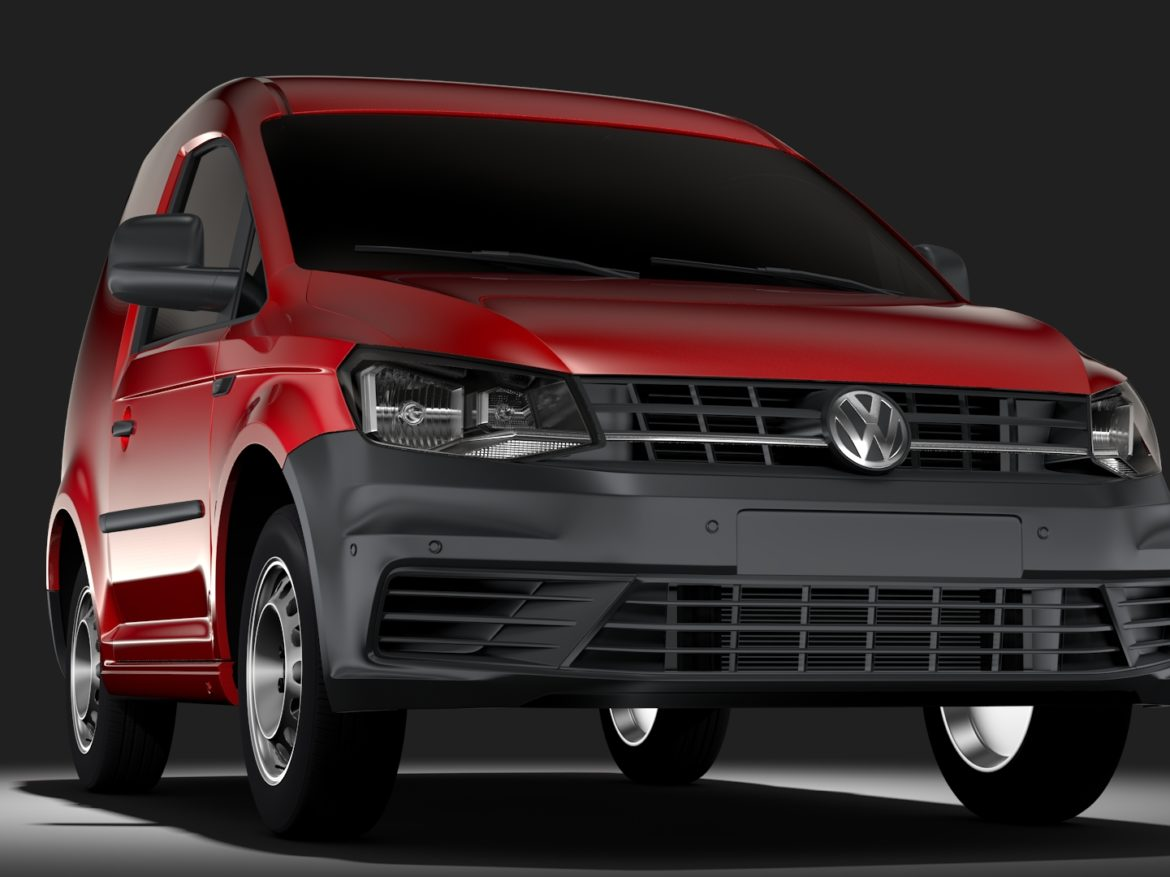 Volkswagen Caddy One Man Van 2017 3d model high poly max fbx c4d lwo lws lw ma mb  obj